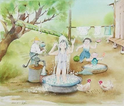 「ひとときの夏の日の・・・」福岡市長賞(小)
