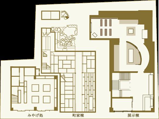 施設マップ (全体1階平面図)